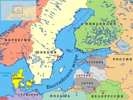 Балтика карта