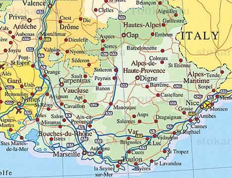 карта лазурного берега
