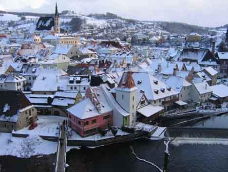 Чехия зимой