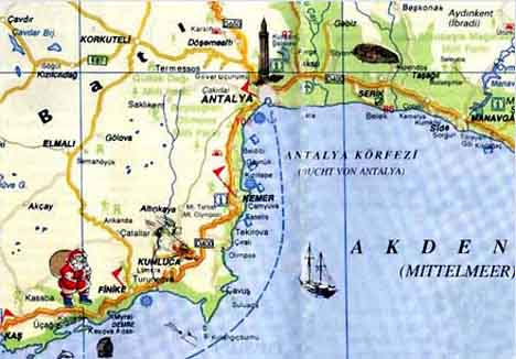 карта анталии