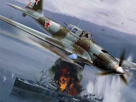 атака самолетов на военное судно