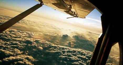 самолет, облака