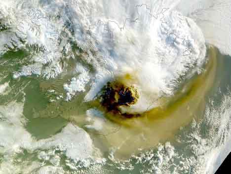 извержение вулк Гримсвотн