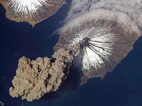 Извержение вулкана Исландия фото 1.