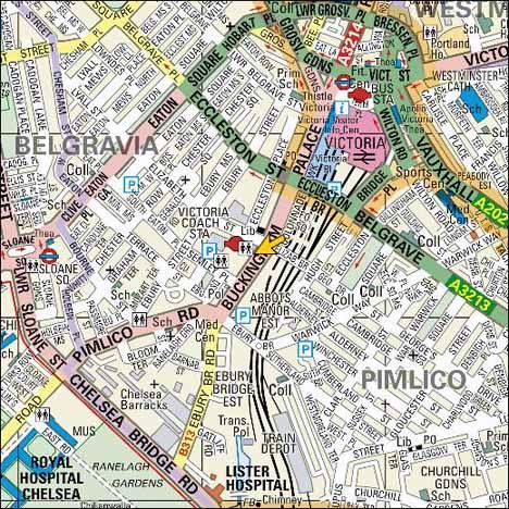 карта района  станции виктория