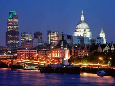 ночной Лондон собор Св. Павла