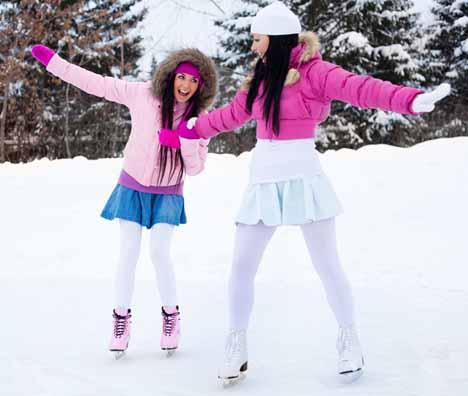 девушки на коньках