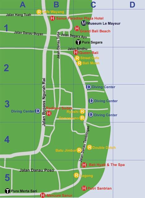 карта санур