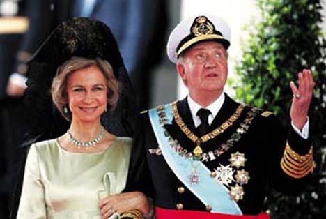 король Хуан Карлос I и королева София