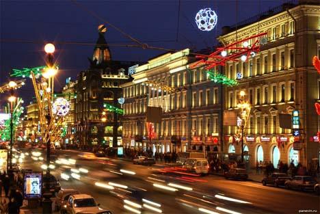 санкт петербург зима