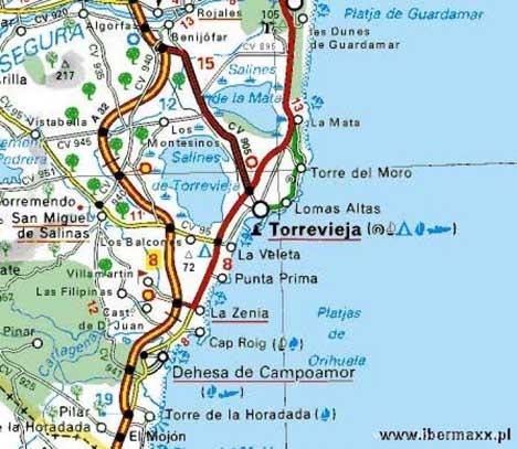 карта Торревьеха
