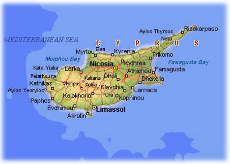 Кипр карта