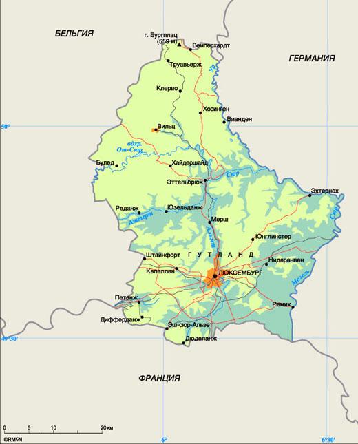 люксембург карта