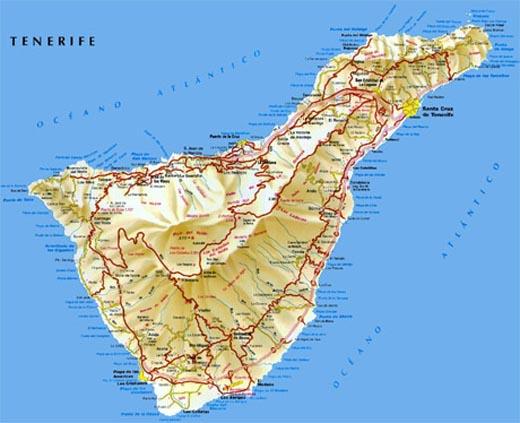 тенерифе на карте