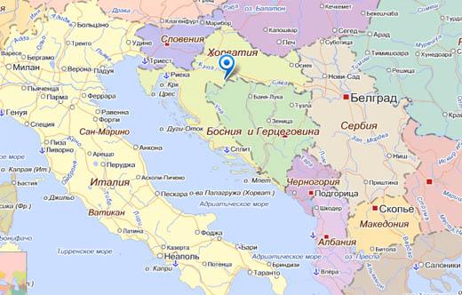 хорватия карта
