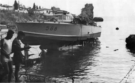 Итальянский торпедный катер MAS 568 1942 год.