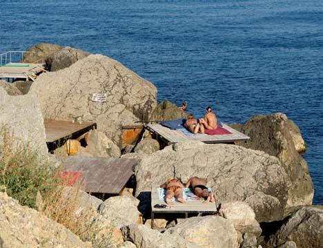 форосские пляжи