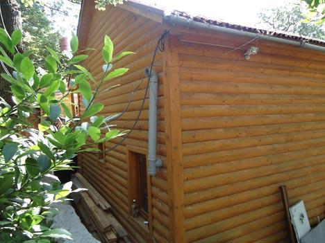 деревянный коттедж в крыму