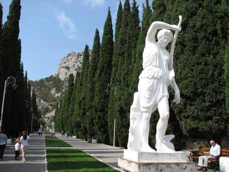 аллея статуй симеиз