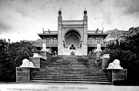 Воронцовский дворец в Алупке - львиная терраса
