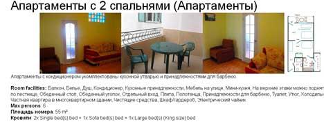 апартаменты в кацивели