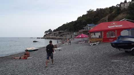 жилье возле пляжа черный бугор  алупке