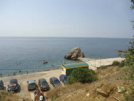 алупка фото пляж