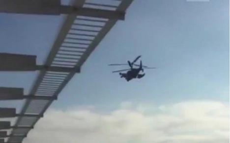 вертолет крымский мост