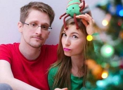 Эдвард Сноуден со своей подругой