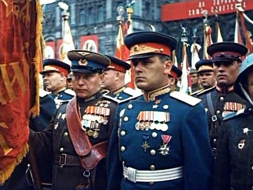 участники Парада Победы